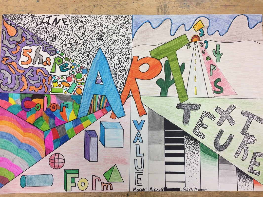 8 Elements Of Art : Th grade elements of art poster project marlboro